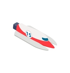 Speed boat isometric 3d icon vector