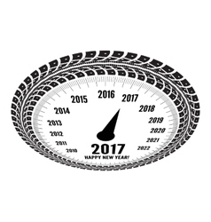 Speedometer 2017 year greeting vector image