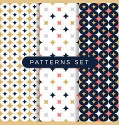 star pattern set ornamental seamless space vector image
