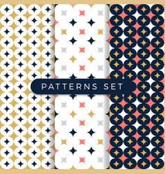 Star pattern set ornamental seamless space vector