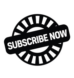 Subscribe now stamp on white vector