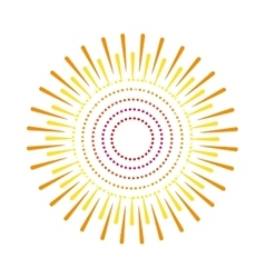 Sunburst emblem isolated icon vector