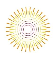 sunburst emblem isolated icon vector image