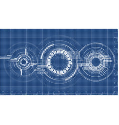 Technological blueprint technical drawing vector