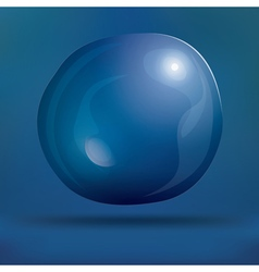 Transparent Soap Bubble on Blue Background vector image