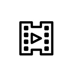 video player icon with line style vector image
