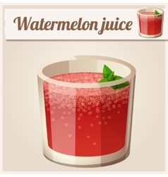 Watermelon juice Detailed Icon vector image