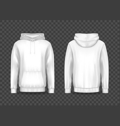 white men 3d hoodie or hoody sweatshirt jacket vector image