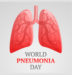 world pneumonia day concept background cartoon vector image