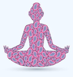 yoga pose isolated image vector image