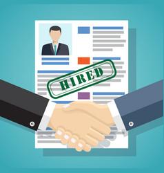 hiring process concept vector image vector image