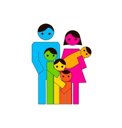 Large family icon vector image vector image