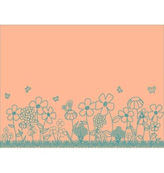 Peach Floral Background vector image