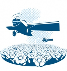 poster airplane vector image vector image