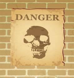 danger poster vector image vector image