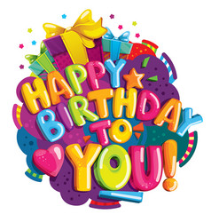 happy birthday to you vector image vector image