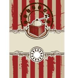 Vintage Coffee Grinder vector image