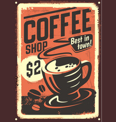 vintage coffee house design vector image