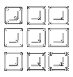 Frames borders art deco style set2 vector