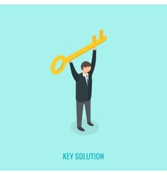 Key solution concept Isometric 3d vector image vector image
