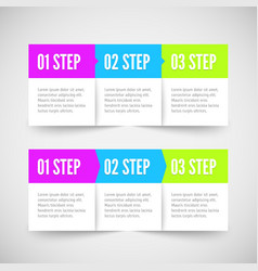 Modern infographic template Flat styled vector image