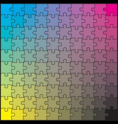 puzzle CMYK vector image