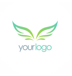 wing fly logo vector image