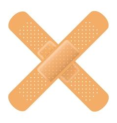 Adhesive bandage cross vector image vector image