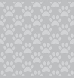 animal paw seamless gray pattern vector image vector image