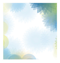 blue abstract figures background icon vector image