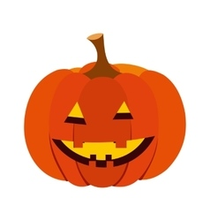 Pumpkin with a smile icon vector image vector image