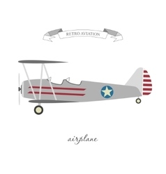 Retro pattern airplane in a flat style vector image