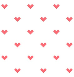 Romance seamless pattern with stylized hearts vector image