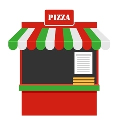 Showcase of Sale of Pizza Stall Marketplace vector image vector image