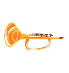 trumpet musical instrument cartoon vector image