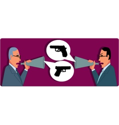 Verbal Confrontation vector image