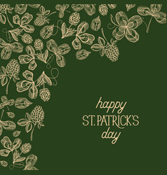 abstract floral st patricks day poster vector image
