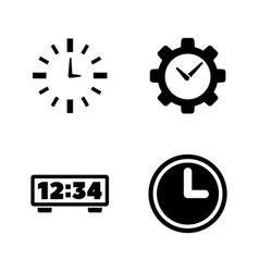 alarm time clock watch simple related icons vector image
