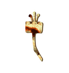 Alphabet hebrew passover matzah hebrew letter zain vector