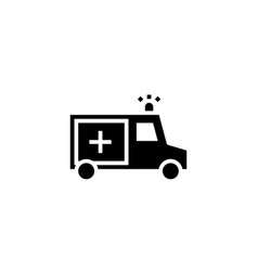 ambulance icon solid vehicle and transportation vector image