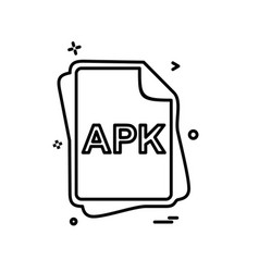 Apk file type icon design vector