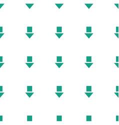 Arrow down icon pattern seamless white background vector