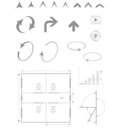 Arrows basic vector