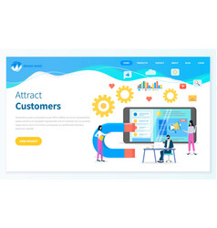 attract customers for developing social websites vector image