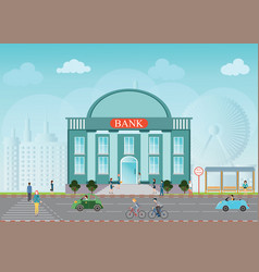 bank building exterior vector image