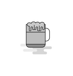 beer web icon flat line filled gray icon vector image