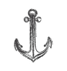 blurred sketch contour anchor icon design vector image