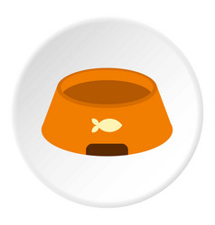 Bowl for animal icon circle vector