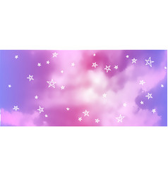 Bright blue sky background realistic vector