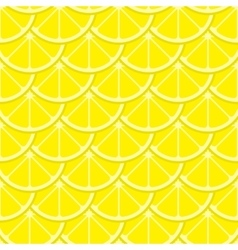 bright lemon slices seamless pattern vector image